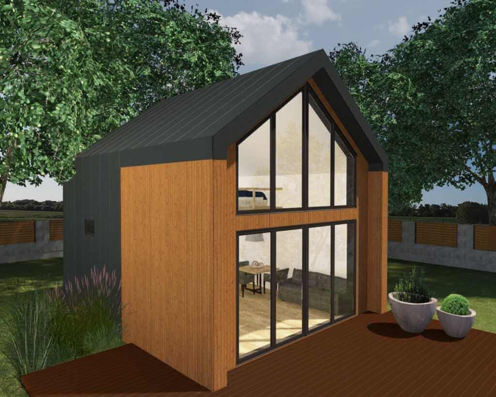 Domek bez pozwolenia na budowę LYKKE przód