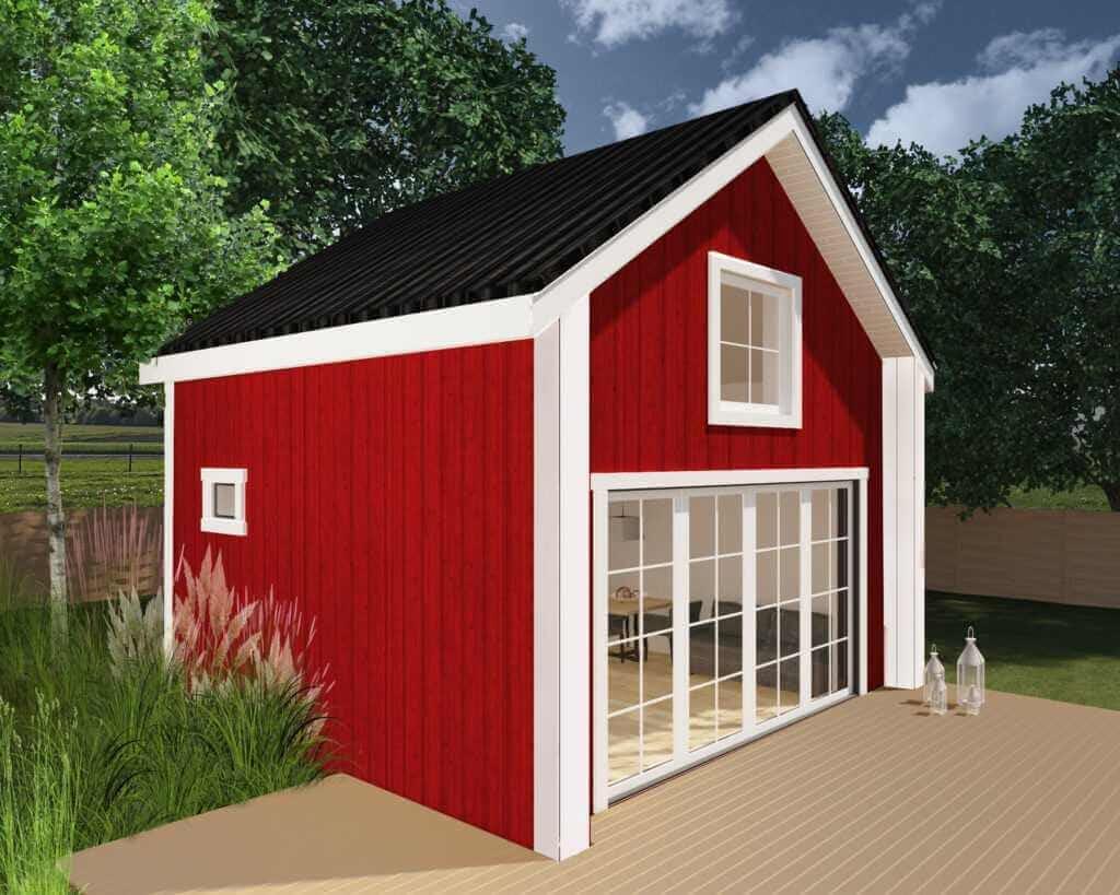 czerwony domek bez pozwolenia na budowę RORBU