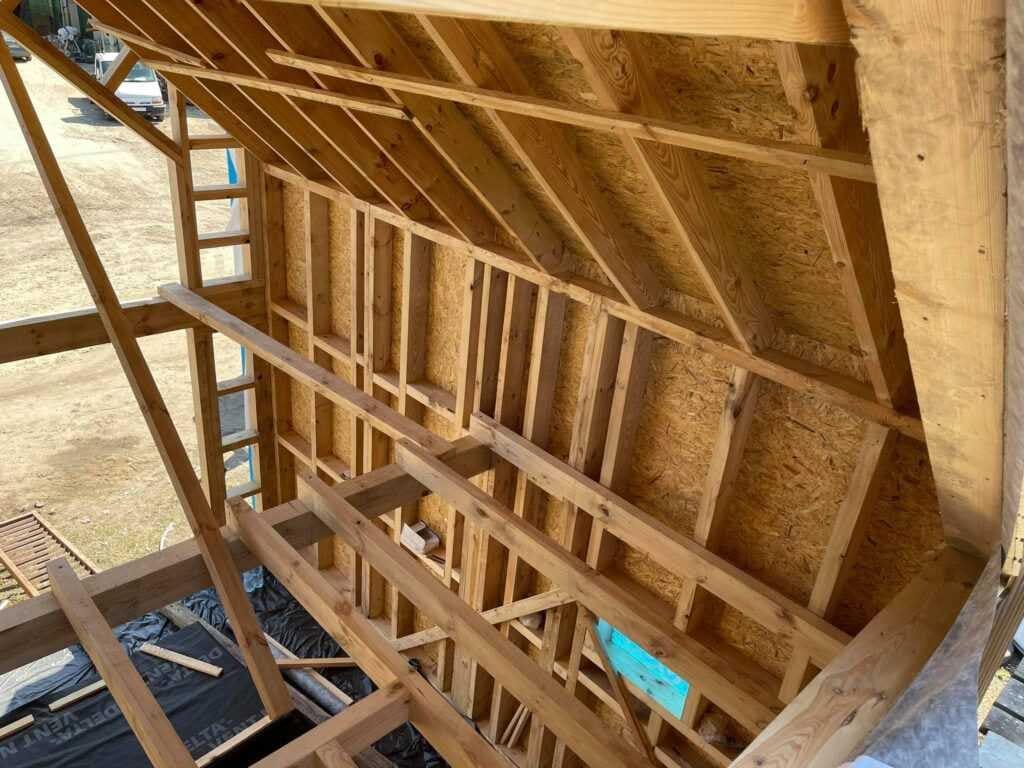 konstrukcja domku pokazowego
