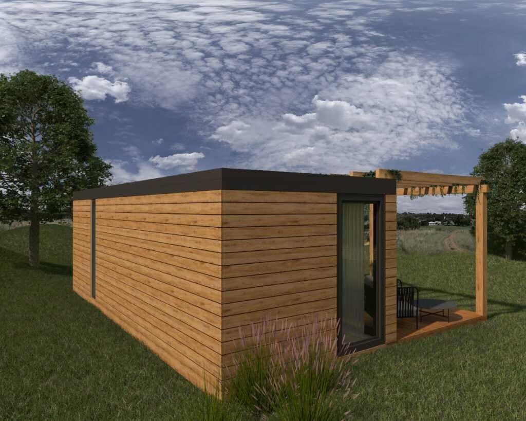 Domek bez pozwolenia na budowę TORGET tył